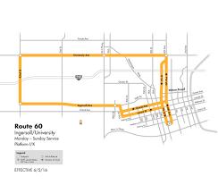 Dallas Dart Map by Dart Local Route 60 U2013 University Ingersoll U2013 Dart Local Routes