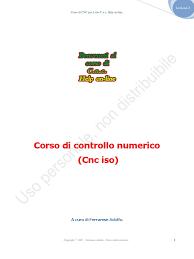 corso cnc lezione 2