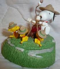 snoopy beagle scout and woodstock cing tent ornament peanuts