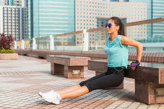 Triceps Bench Dips Exercising Dips Stock Images 226 Photos