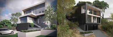 sloping house plans pretentious narrow sloping block house designs home builders plans