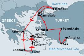 Greece Islands Map by Classical Turkey U0026 The Greek Islands Turkey Tours Peregrine