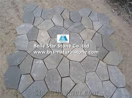 grey slate meshed flagstone split face slate flagstone patio