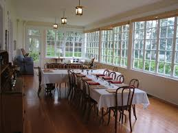 inspired sunroom dining room decoration with long t shape dining