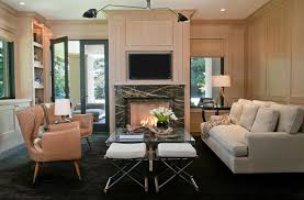 Create Drama With Black Carpets And Rugs - Black and white family room