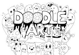 doodle art coloring pages coloringstar