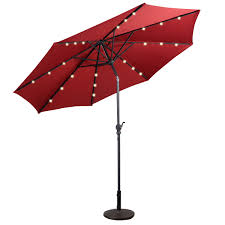 Patio Umbrella With Led Lights by Goplus Op2805 10ft Patio Solar Umbrella Led Patio Market Steel
