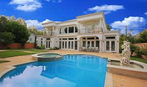 beauteous design ideas of luxury home with large pools and stone