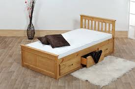 Single Bed Frame And Mattress Deals Single Wooden Frame With Drawers Hutchin White Cheap Frames