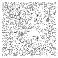 henna coloring pages peacock antistress coloring page stock vector art 523266920