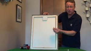 Hanging A Frame by Magnetic Picture Hanger Picture Hanging System Youtube