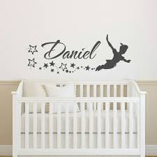 pin by bauer katherine agnes on home made stickers pinterest name wall decal boys peter pan wall decal for kids personalized boy name decal peter pan personalized name custom wall decals nursery 147