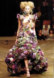 flower dress avant garde mcqueen flower dress what would oscar do