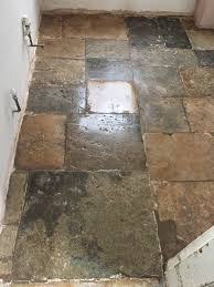 300 year old flagstone floor restored in bicester oxfordshire