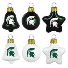 michigan state spartans 12 pack team logo mini ornaments 14 95