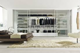decorations wonderful glass walk in closet with big mirror and
