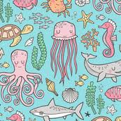 octopus wrapping paper octopus fabric wallpaper gift wrap spoonflower