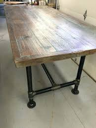 Wood Table With Metal Legs Metal Base Wood Dining Table And Chairs Reclaimed Uk Top Set Room