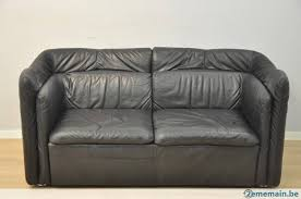 canapé cuir noir 2 places très beau petit canapé cuir 2 places noir 155 cm a vendre