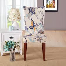 Spandex Banquet Chair Covers Stretch Chair Cover 17 Colors Flower Rose Printing Dinning Chair