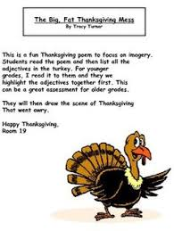 big thanksgiving mess poem great great for imagery and