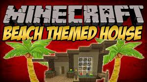 minecraft house tutorial beach themed house 1 8 youtube