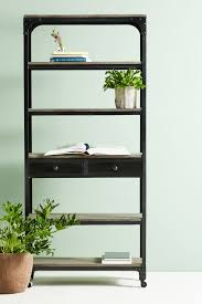 decker five shelf bookshelf anthropologie
