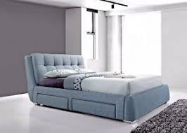 lavish new dark grey fabric 4 drawer modern storage bed frame in