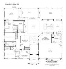 Craft Room Floor Plans Olive Hill Floor Plans New Homes In Bonsall North County New Homes