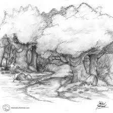 2007 pencil sketch forest by rhinus on deviantart