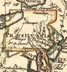 Map Of Western Pa Virginia Pennsylvania Boundary