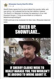 Milwaukee Meme - sheriff clarke responds to recent complaint with facebook meme