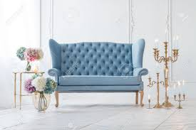 Living Room With Blue Sofa by Beautiful Provance Living Room With Blue Sofa Near Table With