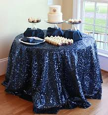 events best choice navy blue sequin tablecloth 48 u0027 u0027 round navy