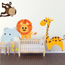 Animal Wall Decals For Nursery Nursery Zoo Wall Decal Animal Wall Decal Murals Primedecals