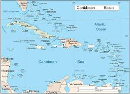 Map Of Caribbean Islands And South America by The Caribbean
