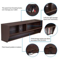 Altus Plus Floating Tv Stand Amazon Com Fitueyes Wall Mounted Audio Video Console Wood Grain