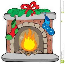 christmas fireplace with stockings stock images image 7048144