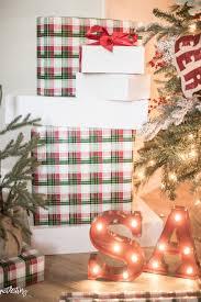 christmas plaid wrapping paper classic christmas tree decor just destiny