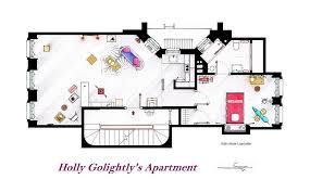 tv show apartment floor plans artist draws detailed floor plans of famous tv shows bored panda