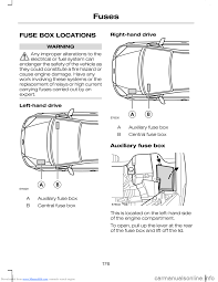 fuses ford c max 2008 1 g owners manual