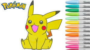 pikachu coloring book pokemon go colouring pages for kids rainbow