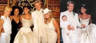 beckham wedding dress a look back at david and beckham s wedding day new