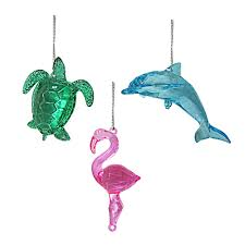 nicholas square coastal christmas ornaments 3 piece set