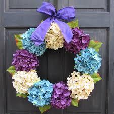 easter wreath blue cream u0026 purple hydrangea wreath colorful