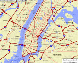 map of new city new york city map and new york city satellite image