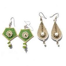 handmade jewellery tutorial jute earrings handmade