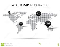 World Map With Pins by World Map With Pins Flat Design Vector Stock Vector Image 49988488