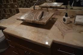 slab sink two bathroom vanities with stunning onyx slab counter tops onyx