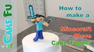 minecraft cake topper how to make a minecraft steve cake topper
